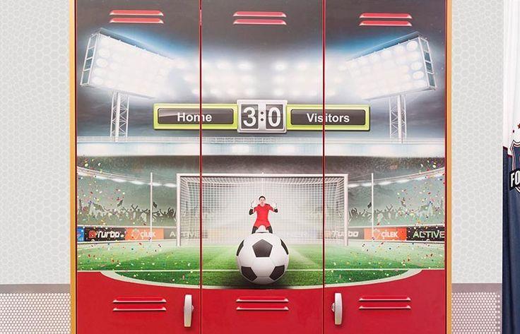 Παιδική  ντουλάπα με θέμα το ποδόσφαιρο