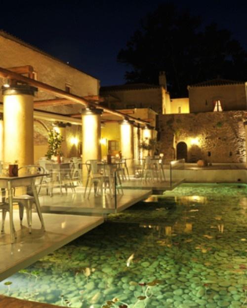 The hotel's restaurant emphasizes products grown right on the estate. #Jetsetter  http://www.jetsetter.com/hotels/greece/monemvasia/651/kinsterna-hotel-spa?nm=serplist=1=image