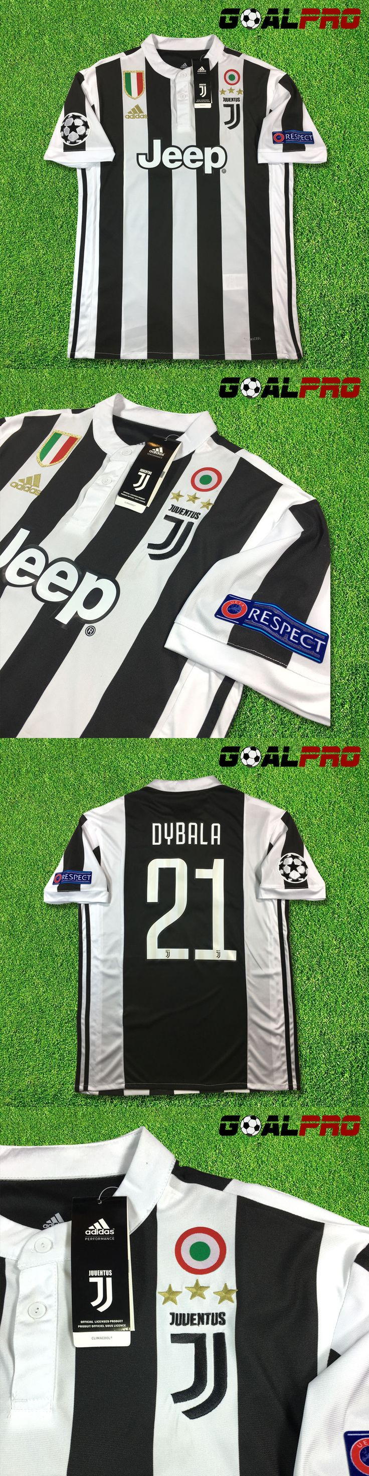 Men 123490: Juventus Home Jersey 2017-18 Dybala Uefa Champions League -> BUY IT NOW ONLY: $54 on eBay!