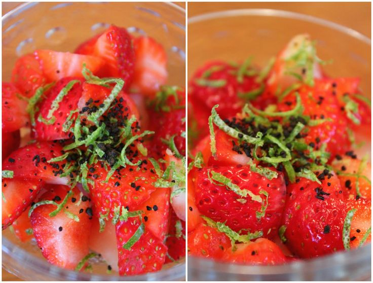 Jordbær med lakris og lime...