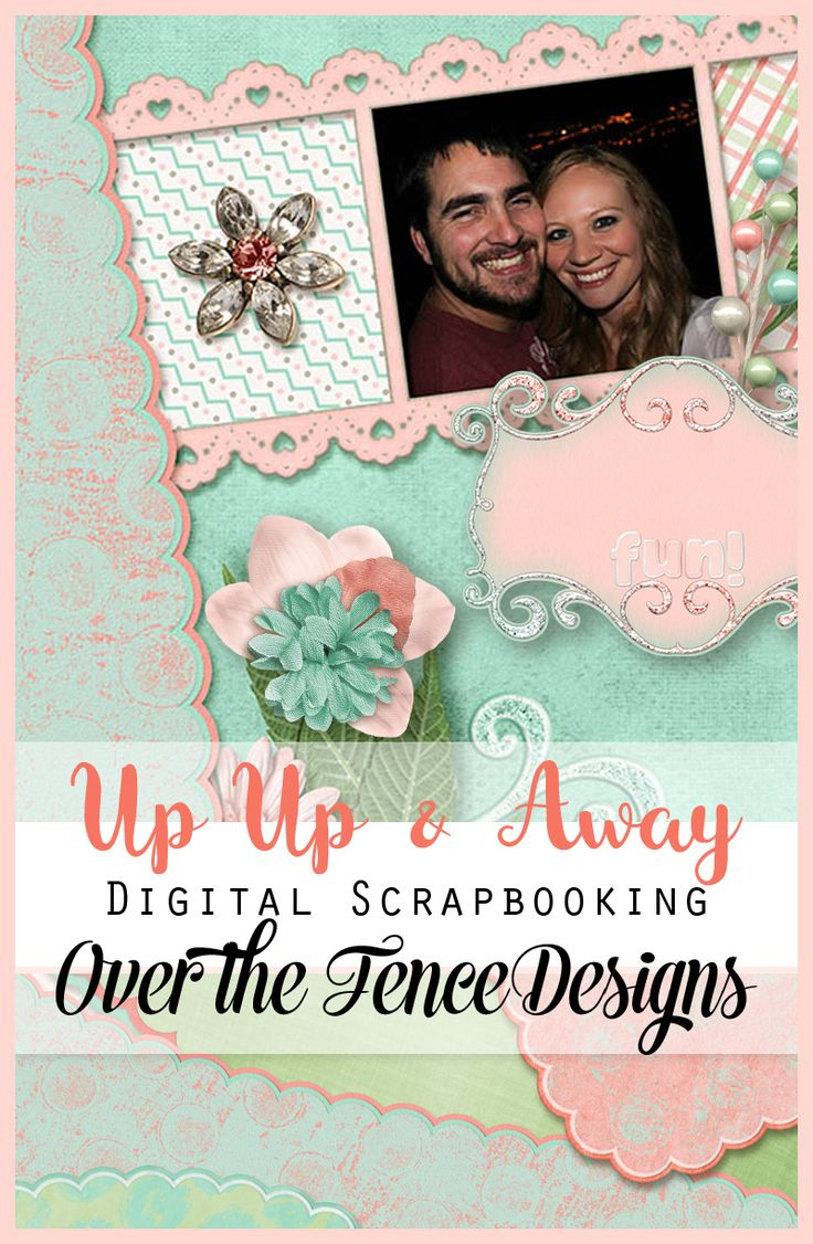 Up, Up, and Away! is a scrapbooking collection of light and airy elements and papers ready to take your layout pages to the next dimension.
