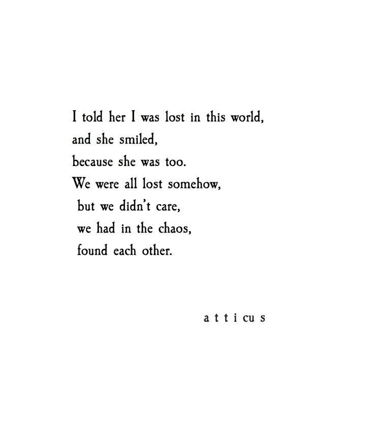 'Lost & Found' @atticuspoetry @atticuspoetry