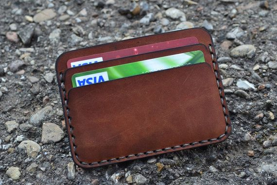 Beautiful and practical mini wallet made from genuine harness - saddle leather. Of thinner harness saddle leather than other such mini wallets presented