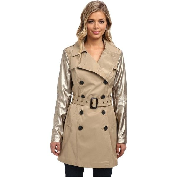 BCBGeneration Trench w/ PU Sleeve and other apparel, accessories and trends. Browse and shop 1 related looks.