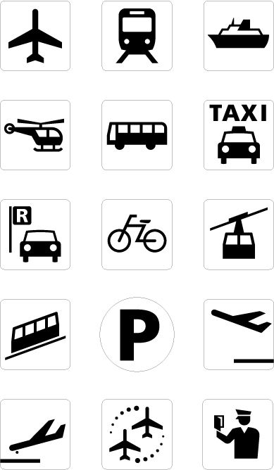 car pictogram   Japanese Symbols Cars