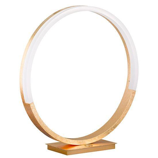 Lampe à poser design à LED Aurate couleur or