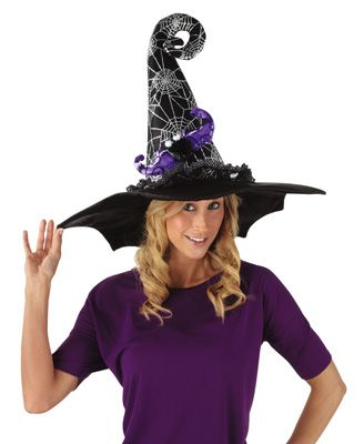 glittered spider web halloween costume witch hat - Spider Witch Halloween Costume