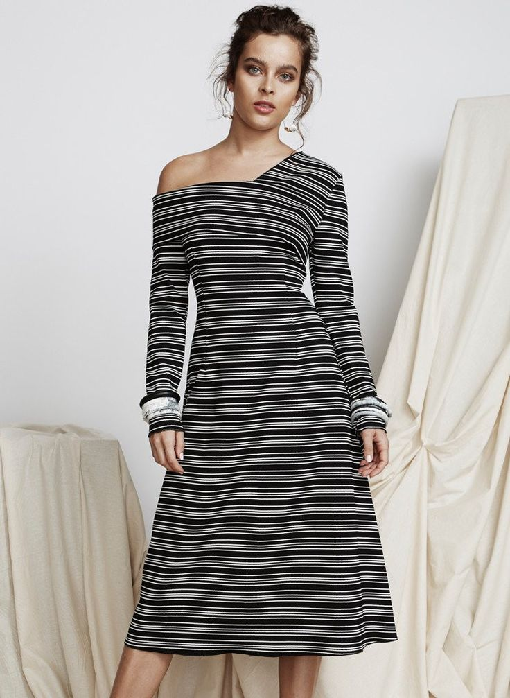 Pink Stitch - Ps The Label Low Down Dress - Stripe