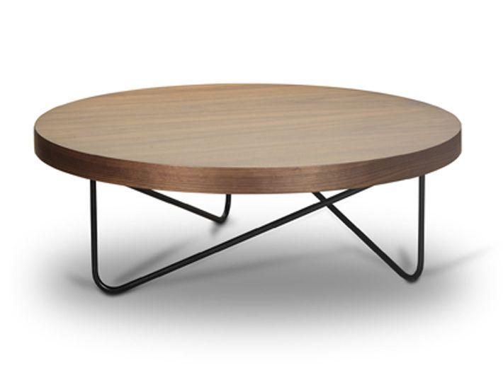 Τραπέζι σαλονιού Φ100Χ30εκ. σε λάκα ματ.