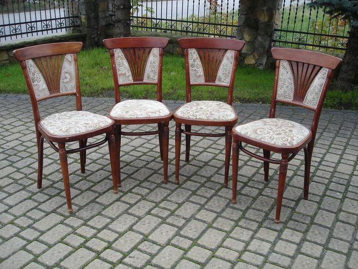 Komplet wiedeńskich  krzeseł - thonet