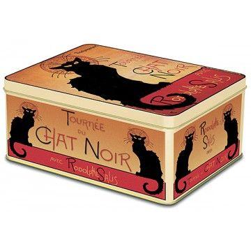 Boîte Grande taille TOURNÉE DU CHAT NOIR de Rodolphe Salis déco affiche rétro vintage