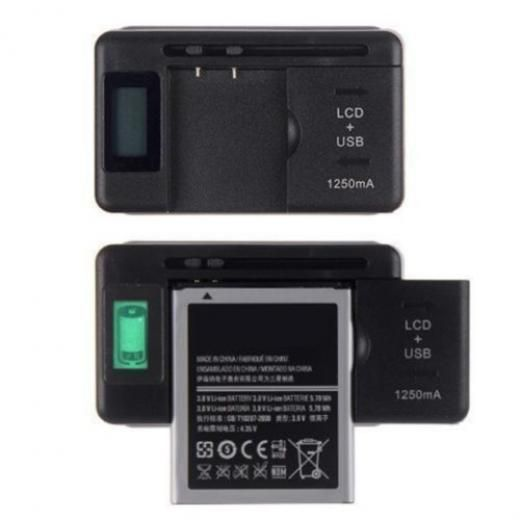 New Mobile Battery Charger Lcd Indicator Screen For Cell Phone Usb-port Cx 162245395378072 Us Plug