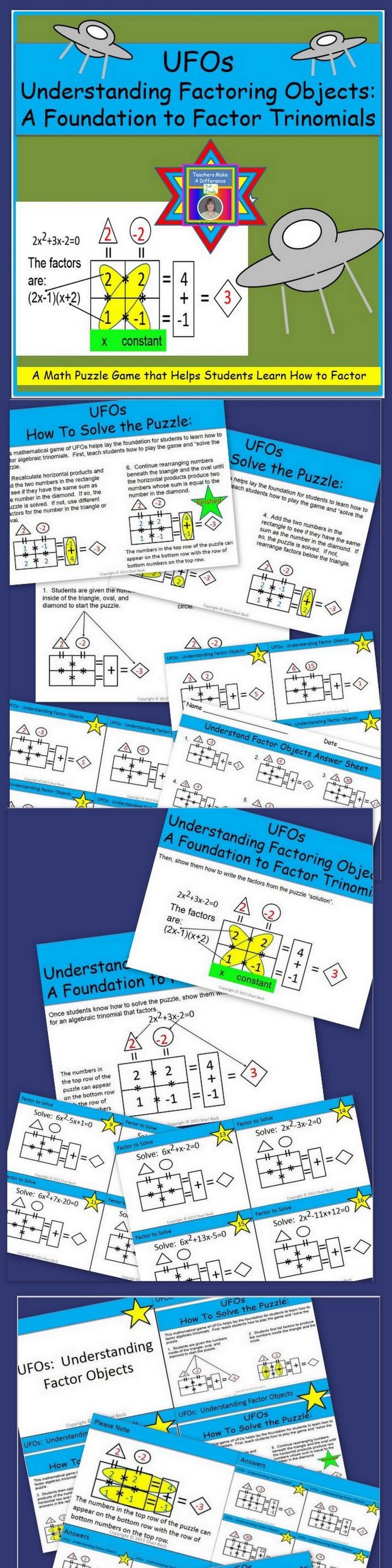 Do Your Students Have A Dfficult Time Learning How To Factor? This Resource  Will First