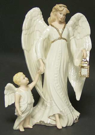 lenox figurines | LENOX Classic Guardian Angel Figurines STOCK