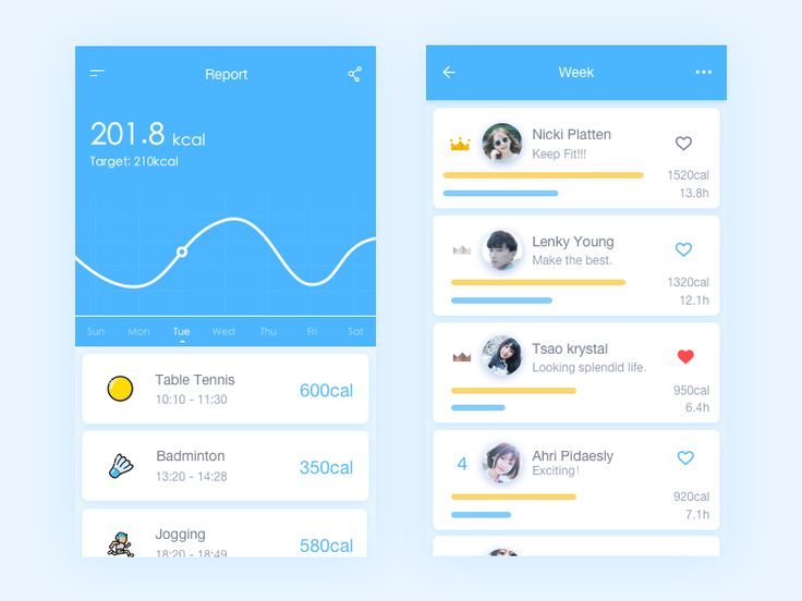 Exercise logs & Rankings by Misterpie