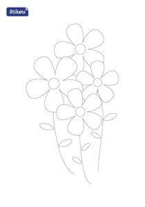 Stikets imprimible flores