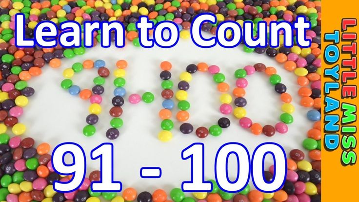 Learn to Count from 91 to 100 with Skittles