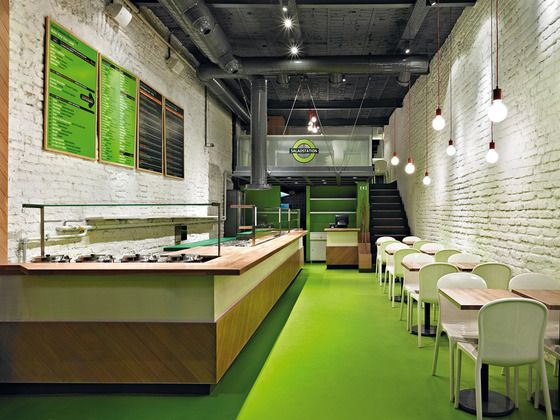 Fast food restaurant salad station istanbul id design