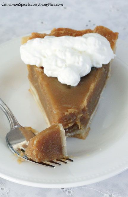 """""""Old-fashioned, straightforward butterscotch pie baked over a flaky pastry crust with a whipped cream topping to satisfy the most urgent sweet tooth"""" • by Reeni on Cinnamon Spice & Everything Nice"""
