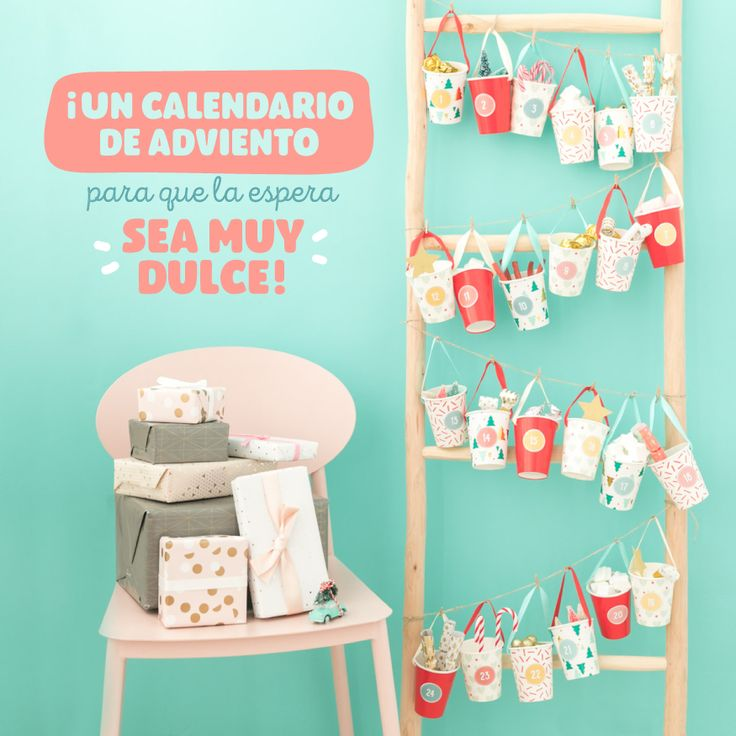 Descargable - Calendario de adviento muy dulce. | by Mr. Wonderful* www.agendawonder.es #mrwonderful