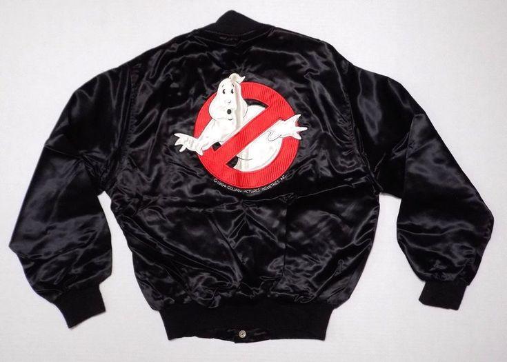 1984 Ghostbusters Satin Jacket Promotional Movie Ultra Rare Cast Crew Black