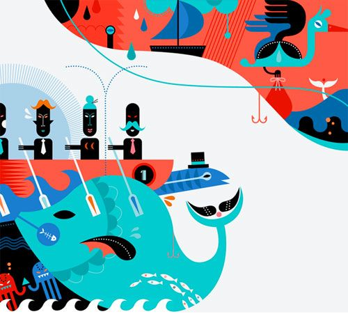 Nice colours and cool illustrations - Janine Rewell, graphic designer/illustrator from Helsinki, Finland.