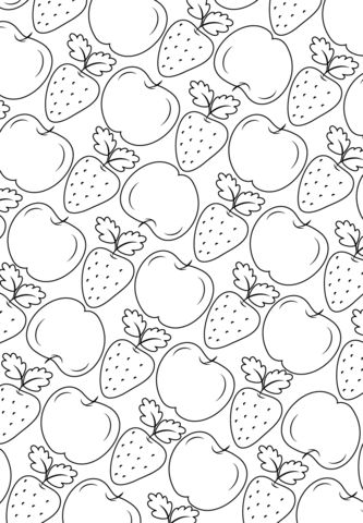 Fruit Pattern Coloring Page