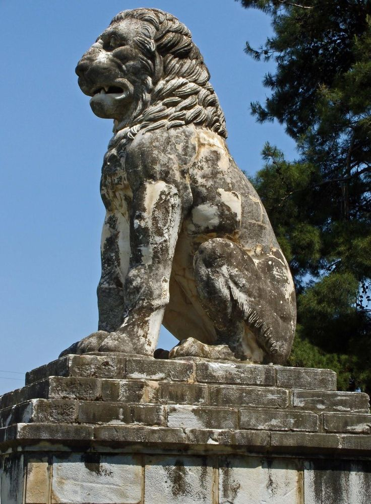 The statue of the Lion of Amphipolis