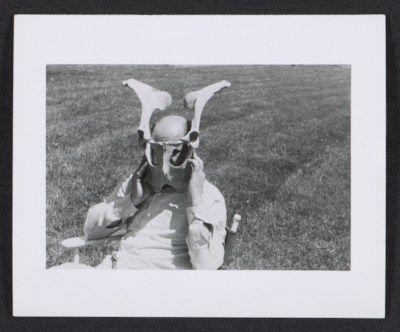 Citation: Jackson Pollock posing with animal bones, 195-? / unidentified photographer. Jackson Pollock and Lee Krasner papers, Archives of American Art, Smithsonian Institution.Pollock Genius, Artists, Jackson Pollock, Animal Bones, Pollock Poses, Pollock Centennial