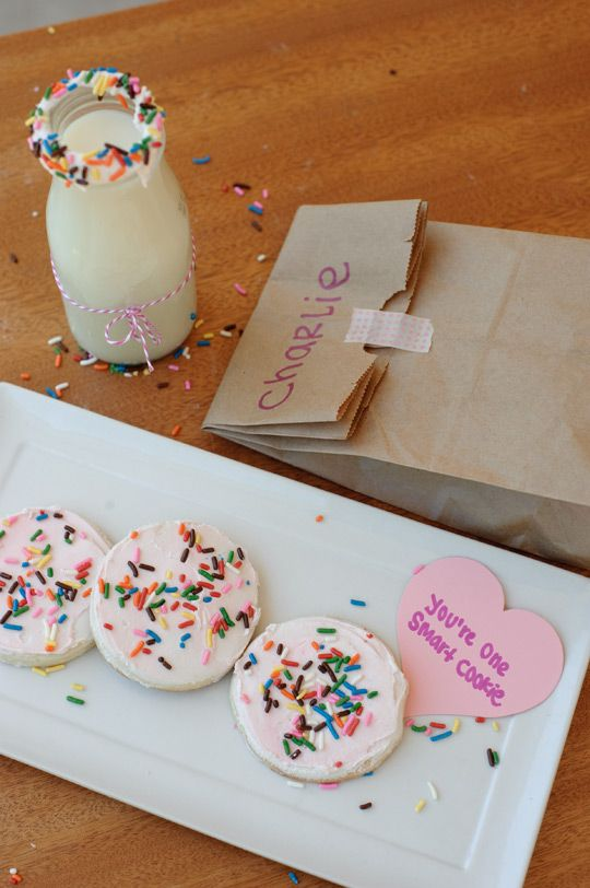 Smart Cookie Cake Batter Milk Bake Sale Cookies by Melissa Johnson @BestFriendsForFrosting for Back To School Bake off with @sprinklesngrins