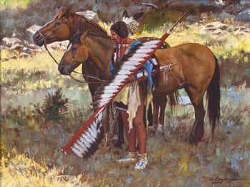 Ruhig vor der Schlacht von Steven Lang kp #nativeamericancultureideas