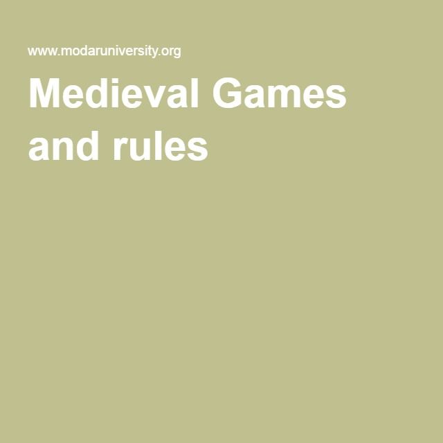 Medieval Games and rules