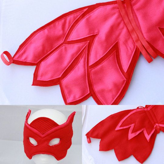Owlette Wings and Mask Felt wings and Mask owlette by BloomsNBugs