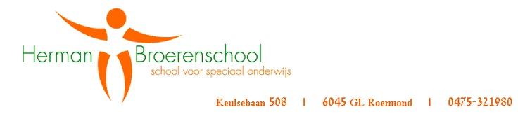 Herman Broerenschool Roermond  Voor hen schrijf ik een nieuw beleidsplan.