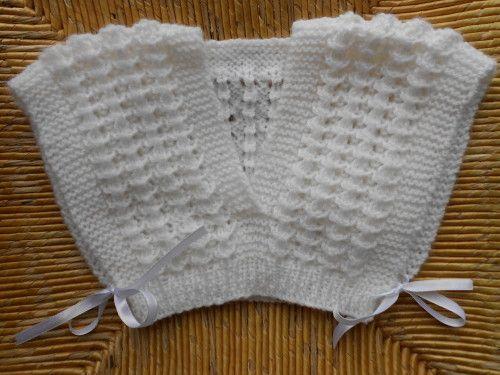 IX  Cache coeur taille 2 ans. Modèle gratuit.  L'atelier tricot de Mam'