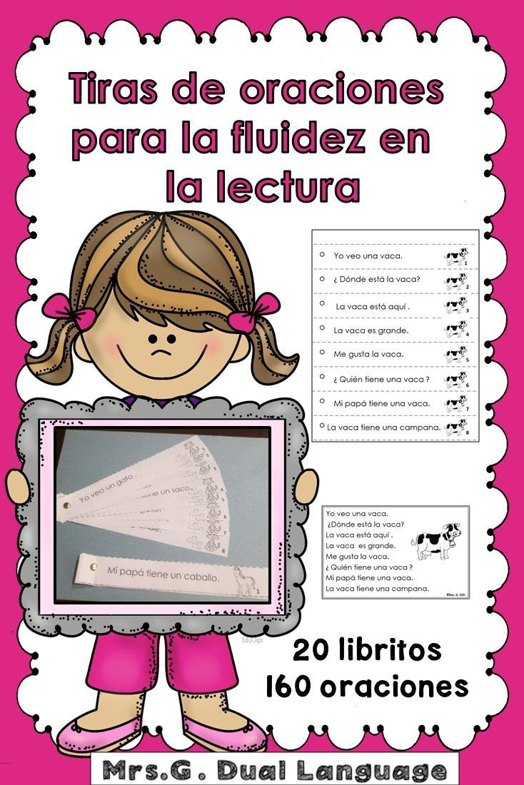Bilingual dolphin counting card 6 clipart etc - Spanish Fluency Practice Tiras De Oraciones