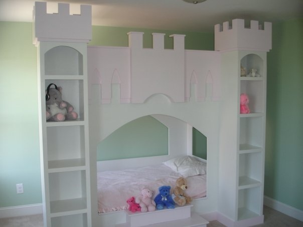 Homemade Castle Bunk Bed Painted Mdf And Plywood Kids