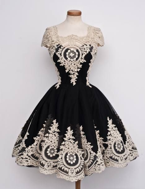 Meet the New Chotronette Collection. Vintage Black Lace Dress and beautiful more dresses at chotronette
