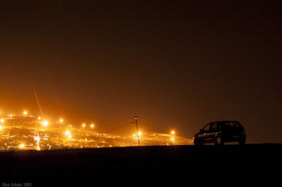 Grahamstown night lights, South Africa copyright Elna Schütz #photography