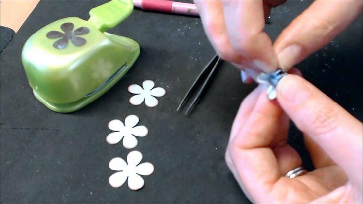 papieren roosjes maken met de retro pons