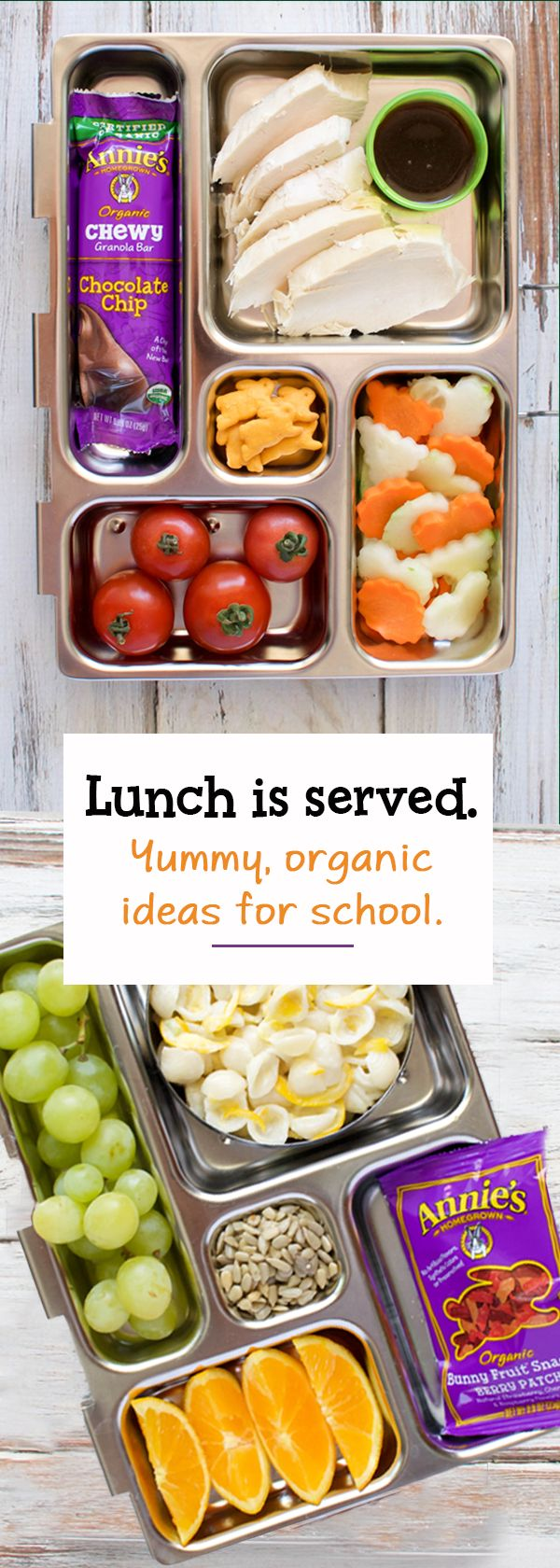 Routine to school = return to the lunch packing routine! Return to school with delicious Annie's snacks, perfect for your kid's lunch box. From berry delicious fruit snacks to chewy, chocolatey and perfectly portable organic granola bars, set the lunch bar high with organic snacks from