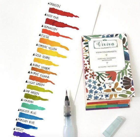 Viviva Color Sheets Watercolor Paint On The Go Painting