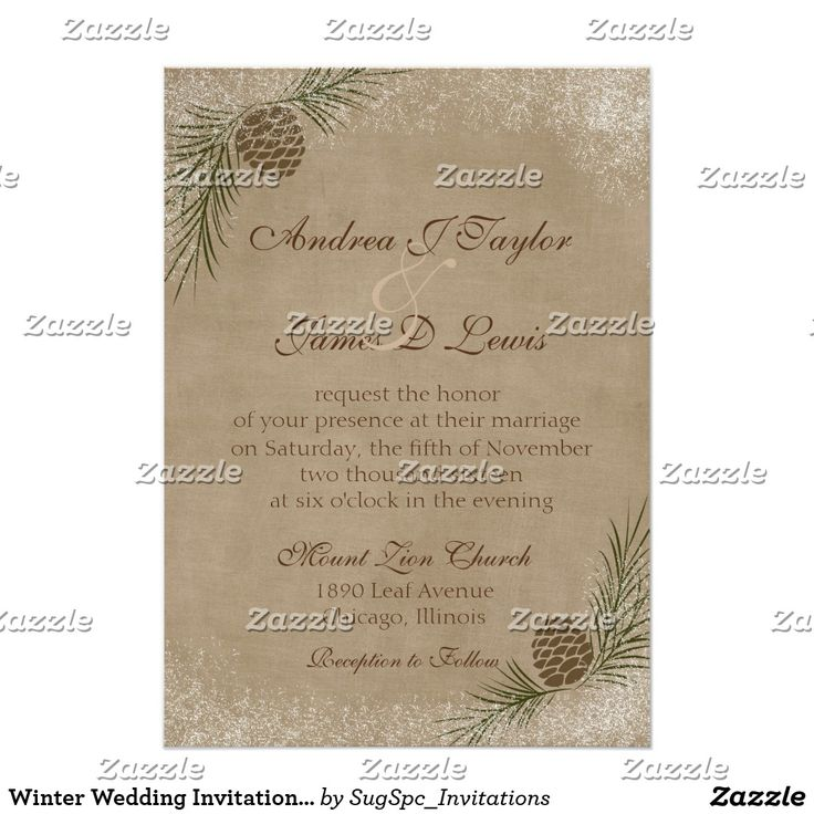 77 best Christmas Wedding Invitations images on Pinterest | Winter ...
