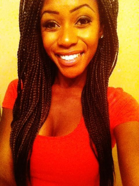 long box braids | Long Box Braids With Color | Another monster bun. :) I'm really ...