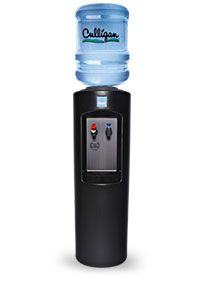 black culligan bottled water cooler