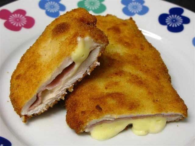 Pechugas de pollo con jamón y queso