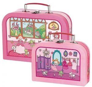 Sigikid Pinky Queeny prinsessa säilytyssalkut, 2 kpl