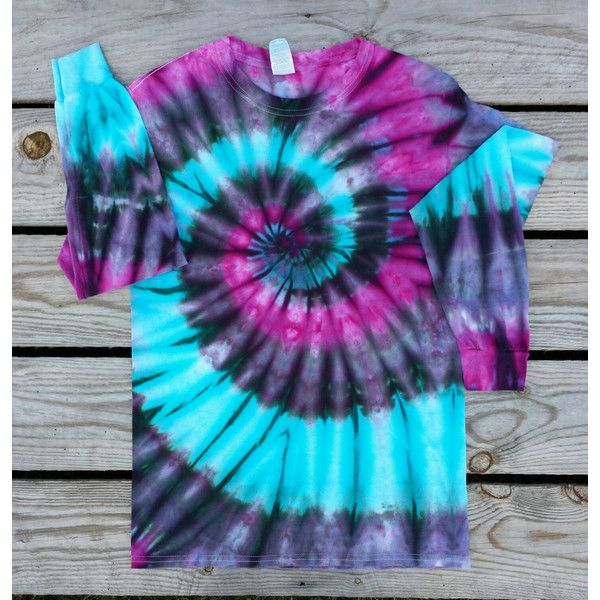 Womens Small Pink Gray and Turquoise Tie Dye Shirt Long Sleeve Hippie... ($26) ❤ liked on Polyvore featuring tops, t-shirts, black, women's clothing, tie dye shirts, pink shirt, tye dye t shirts, long sleeve t shirts and long sleeve tee