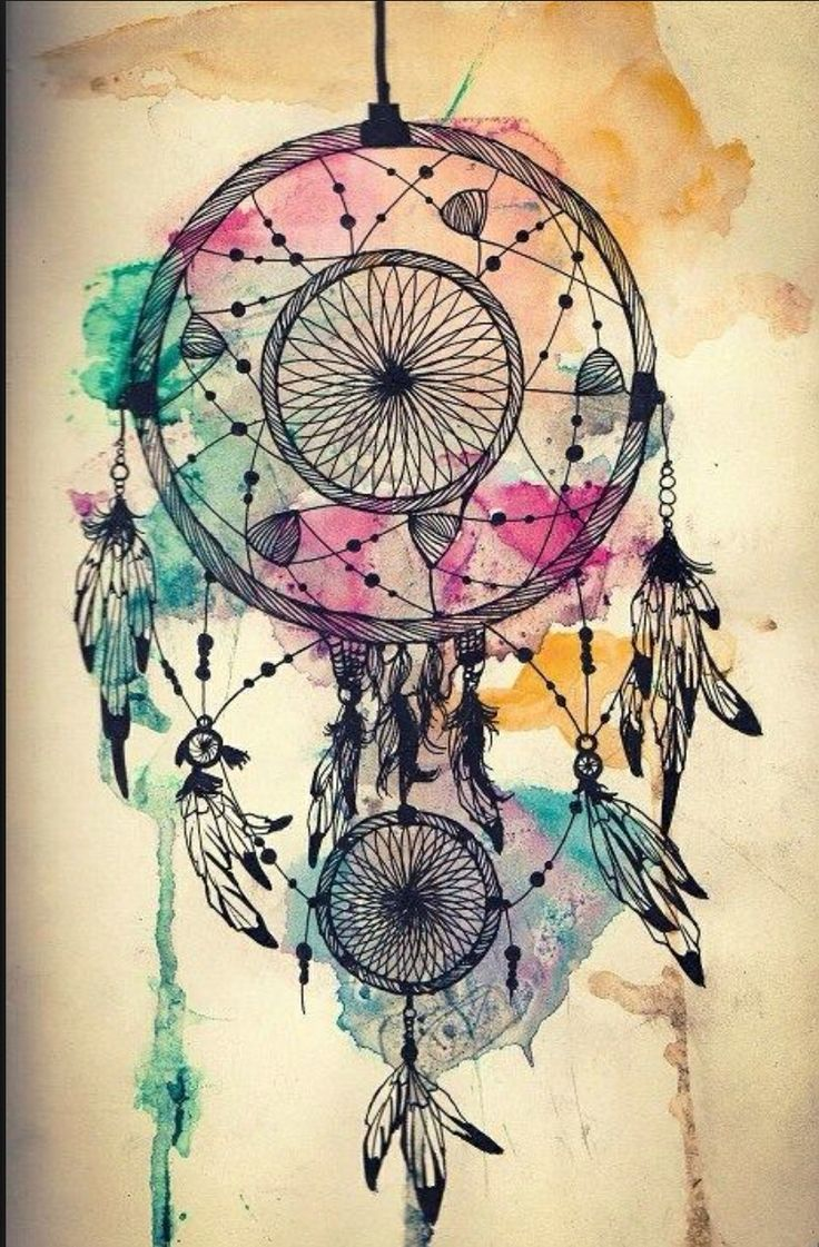 Color art dreamcatcher - Dreamcatcher Water Color Splatter Mmmm Defintly Trying To Make A Dreamcatcher But Just Realize That I Am Too Lazy For It And Just Gonna Buy One Awesome