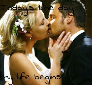 """Today's the day my life begins"" - Alex Karev; I really shipped them, but after George died, Izzie changed so much and I think it was the best she left. Now I really ship Alex and Jo, but Alex and Izzie were great, too. Just at another time...    #greysanatomy #alexkarev #izziestevans #wedding"